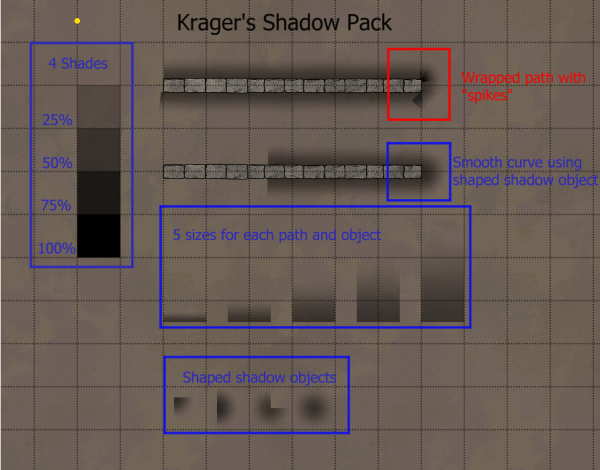 Shadow Paths and Objects Example