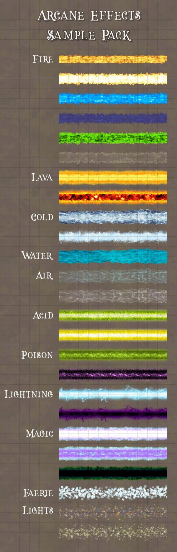 Arcane Effects sample effects