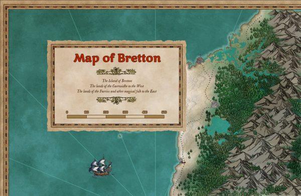 Striped frame & box map sample, full colour