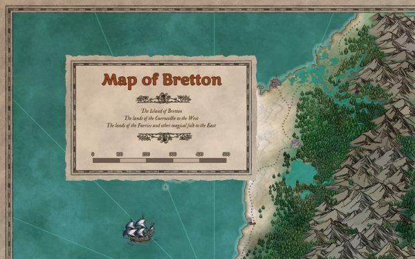 Striped frame & box map sample, colourable