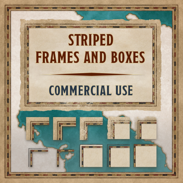 Striped frames & boxes, commercial use