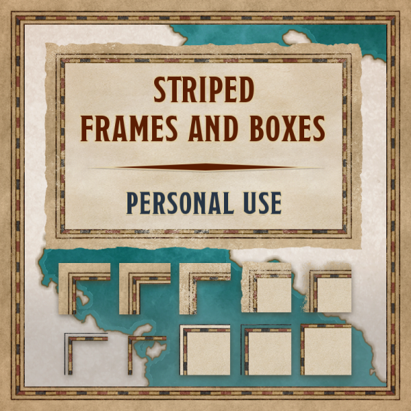 Striped frames & boxes, personal use
