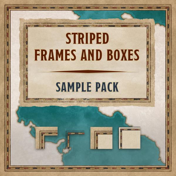 Striped frames & boxes, sample pack
