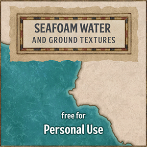 Seafoam water and ground textures