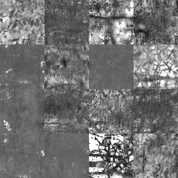 128 Rusty Bin Seamless Textures for Cartography and Mapping textures for Wonderdraft black and white textures demo