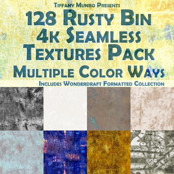 128 Rusty Bin Seamless Textures for Cartography and Mapping