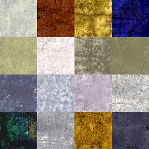 128 Rusty Bin Seamless Textures for Cartography and Mapping textures for Wonderdraft assorted colors demo