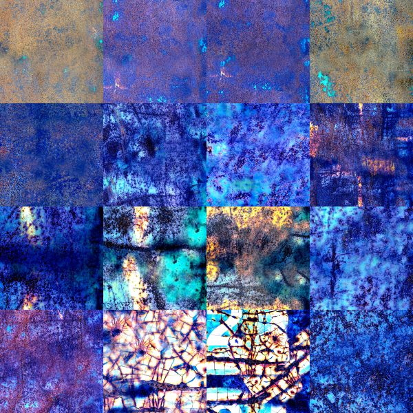128 Rusty Bin Seamless Textures for Cartography and Mapping textures for Wonderdraft vivid blue demo